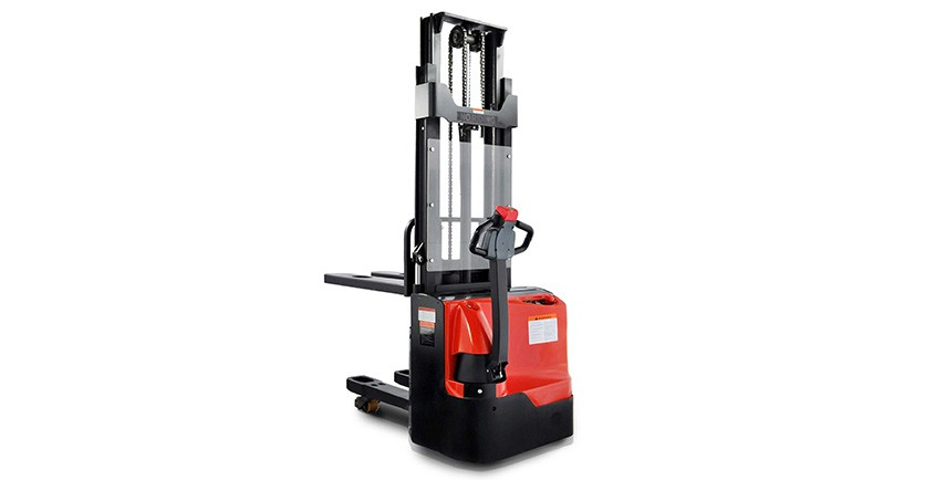 giá xe nâng tay cao HANGCHA Trung Quốc Electric stacker with double pallet(0.8t,1.0t,1.2t)